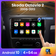AWESAFE PX9 für SKODA Octavia 2 2008- 2010 2011 2012 2013 A5 Auto Radio Multimedia video player GPS Keine 2 din Android 10 2GB + 32GB