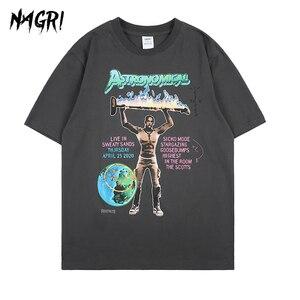 NAGRI Jack Cactus Hip Hop Casual Men T Shirt Travis Scott ASTRONOMICAL ASTROWORLD Letter Print T-Shirts Men Tee Tops Summer New(China)