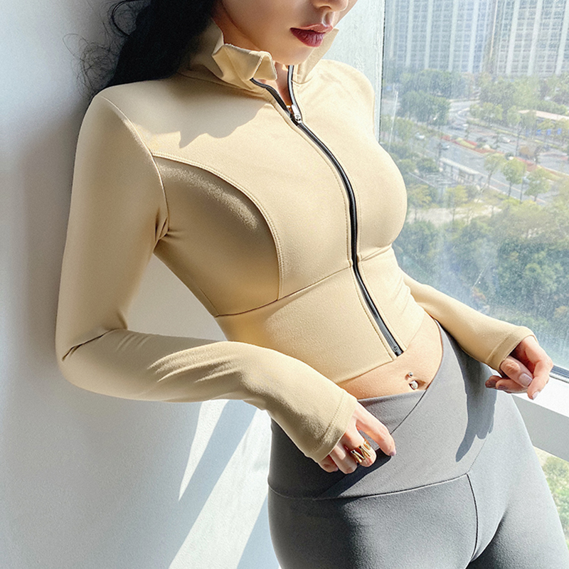Heal Orange Running Jacket Women Dry Fit Womens Gyn Long Shirt Winter Sport Jackets Sports Wear For Women Gym Fitness Jacket