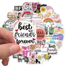 50 PCS Cute Cartoon Friendship Best Friends Stickers Funny Laptop Guitar Skateboard Luggage Waterproof Graffiti Spoof Kids Toys