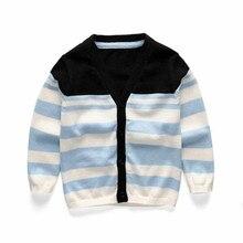цены на Funfeliz Cotton Children Sweaters Autumn Winter Girls Cardigans Striped Sweater for Boys Kids Knitwear Toodler Boys Cardigan 1-6  в интернет-магазинах