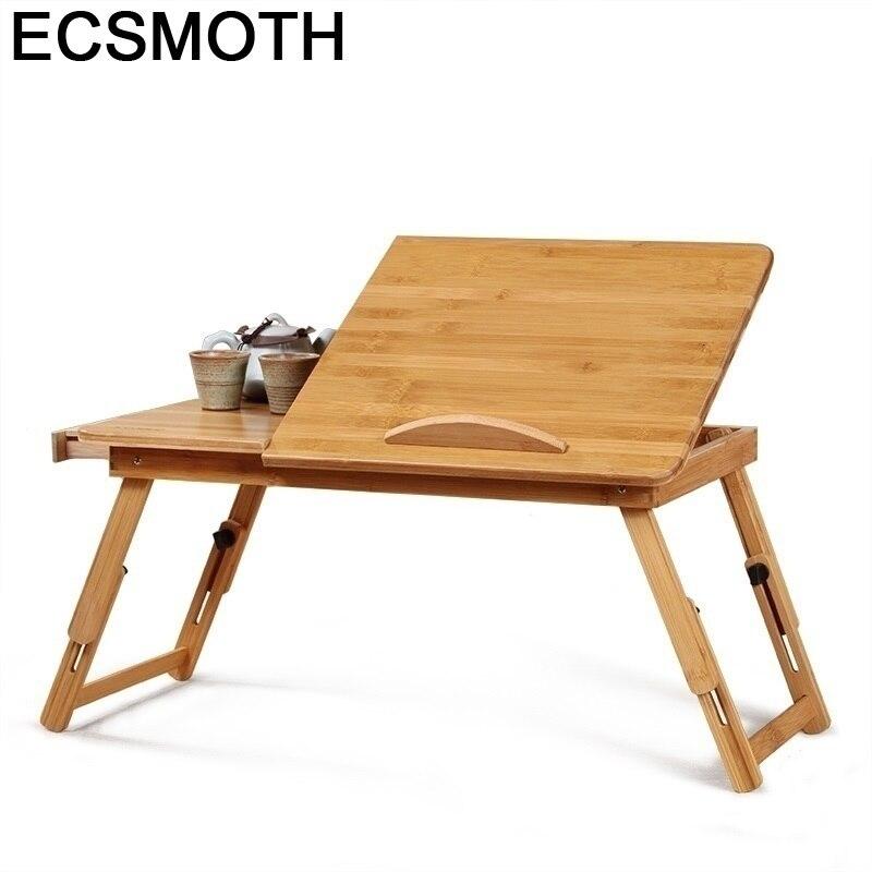 Tisch Standing Dobravel Tavolo Scrivania Ufficio Notebook Escritorio Mueble Bamboo Stand Laptop Mesa Desk Computer Study Table