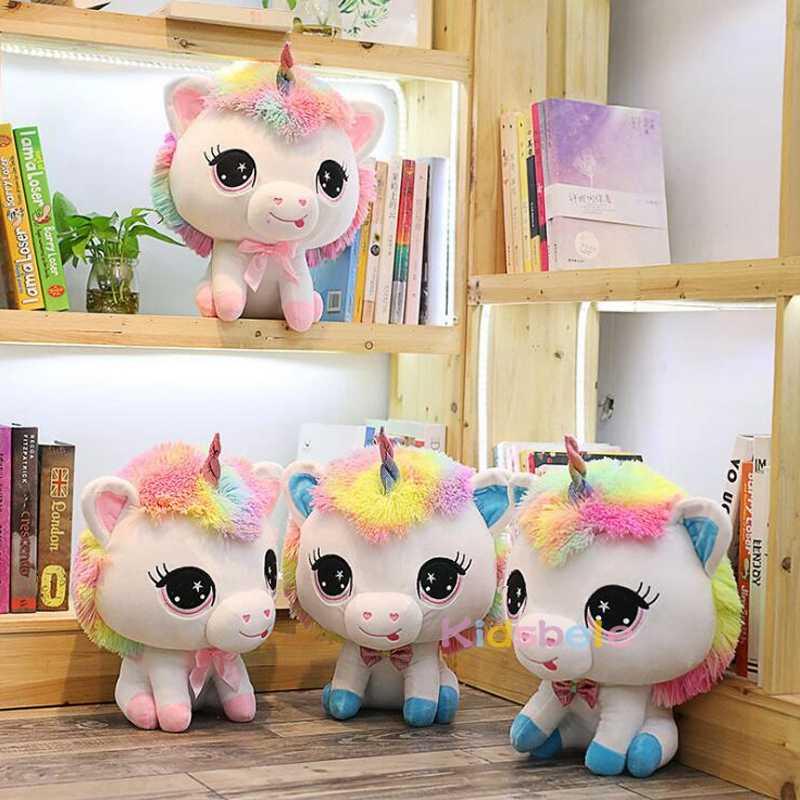Peluche poupée licorne en peluche peluche animaux 35CM cheval en peluche Animal dessin animé fête jouets pour fille Super pas cher juste frais d'expédition