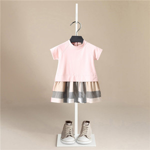 Girl Dress 2019 New Baby Dresses Stripe Summer Short Sleeve Princess Dress Female Baby Summer Clothes Kids Girl Clothes(China)