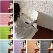 Waterproof Self-adhesive Wallpaper 77*70 Cm 3d Wall Stickers Imitation Brick Background Bedroom Living Room Tv Decoration