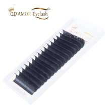 QD AMOR 2cases Easy Fan Eyelash Extension Faux Mink Eyelashes Silk Volume Lash Extensions 0.05 0.07mm Thickness Auto Blooming