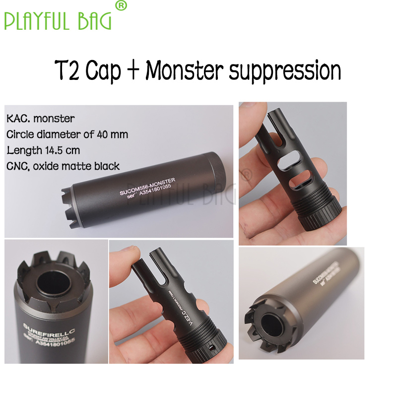 Outdoor Sports Jinming 9th Generation MK18SCAR Water Bomb Modification Accessories Compensation Fire Cat Suppressor MD20