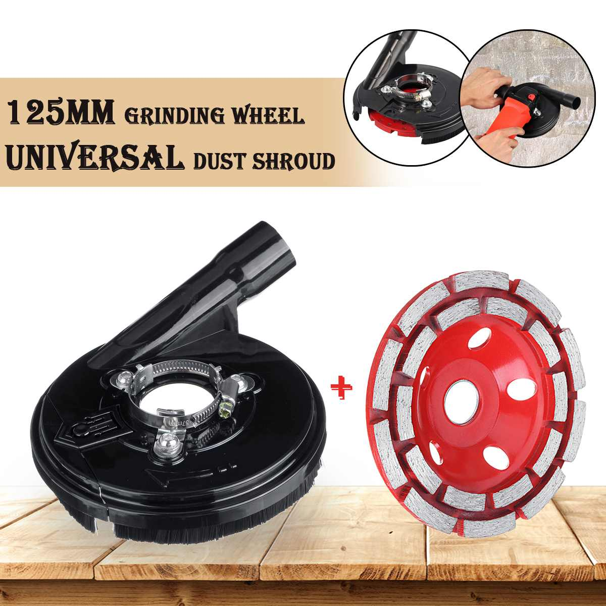 125MM Diamond Grinding Wheel Disc Bowl Shape Grinding Cup 5