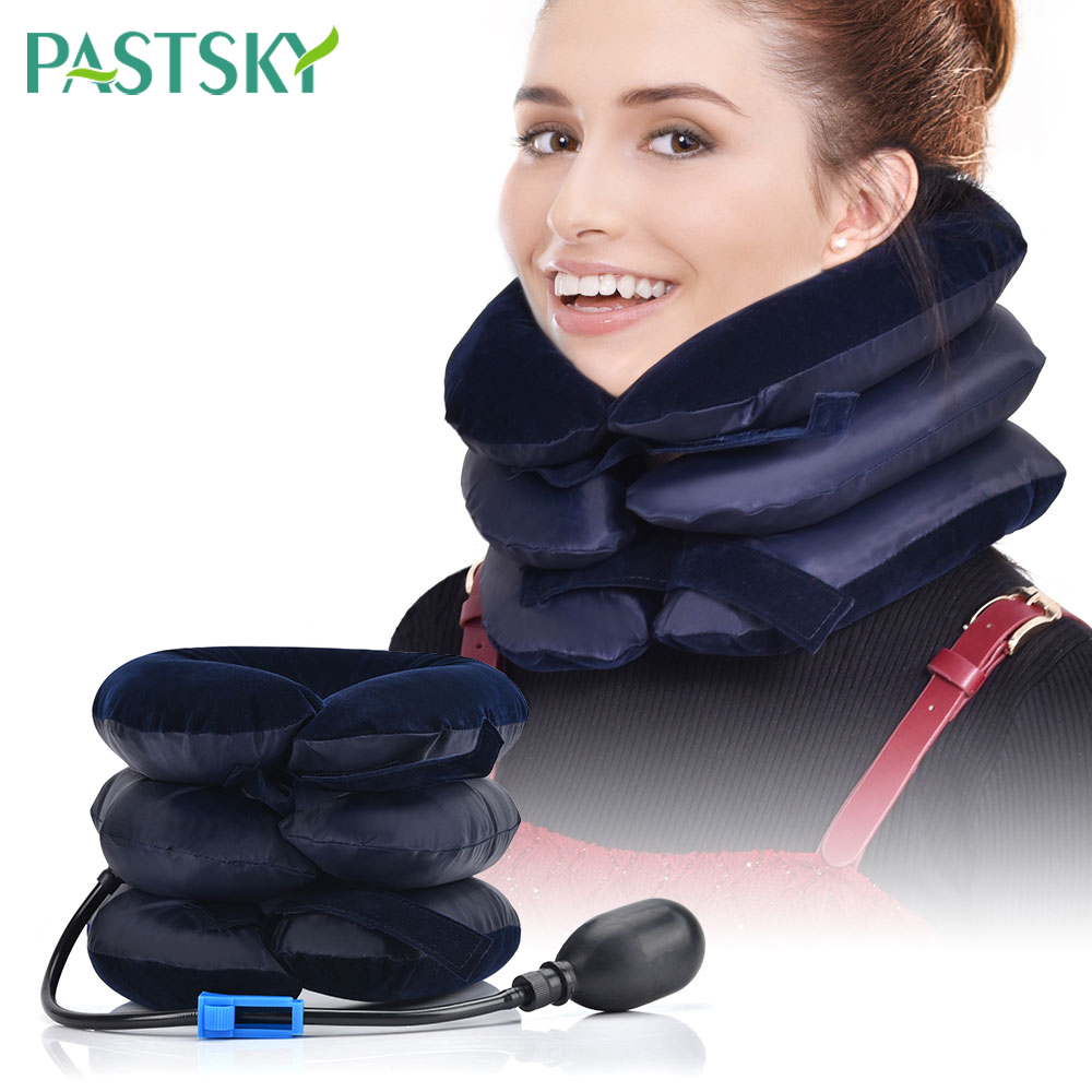 Inflatable Air Cervical Traction Vertebra Soft Travel Neck Tractor Pain Relief Neck Posture Correction Neck Stretching Brace