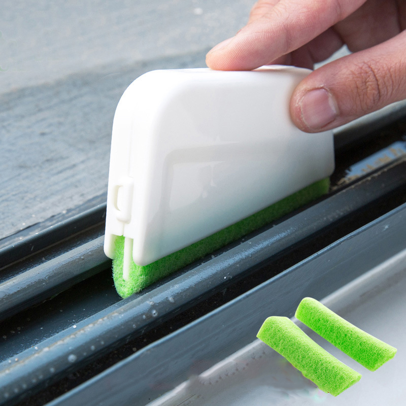1 set window groove cleaning brush Window Cleaner Bathroom Kitchen Floor Gap Household cleaning tool device