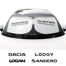 Araç ön camı şemsiye şemsiye kapağı Dacia Duster 1.0 için Tce LPG Logan Stepway Lodgy Sandero otomatik Anti UV güneş gölge koruyucu