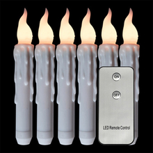 7PCS Flameless LED Candle Remote Control LED Candle Lights Strip Candles Battery Powered Led Easter Candle With Packaging