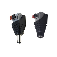 10pair female male dc power jack connector crimp terminal blocks plug adapter for 2 pin 5050 3528 single color led strip wire 5.5*2.5mm Jack male and female wire connector terminal  DC adapter connector light 3528/5050/5730 led strip light
