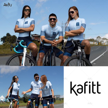 Kafitt luz azul casal ciclismo conjunto skinsuit triathlon triathlon maillot ropa ciclismo roupas de bicicleta macacão verão 1
