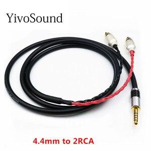Yivosound hifi аудио кабель 2,5 мм разъем сбалансированный интерфейс 4,4 до 2 rca сигнальный кабель AUX линия усилитель для наушников