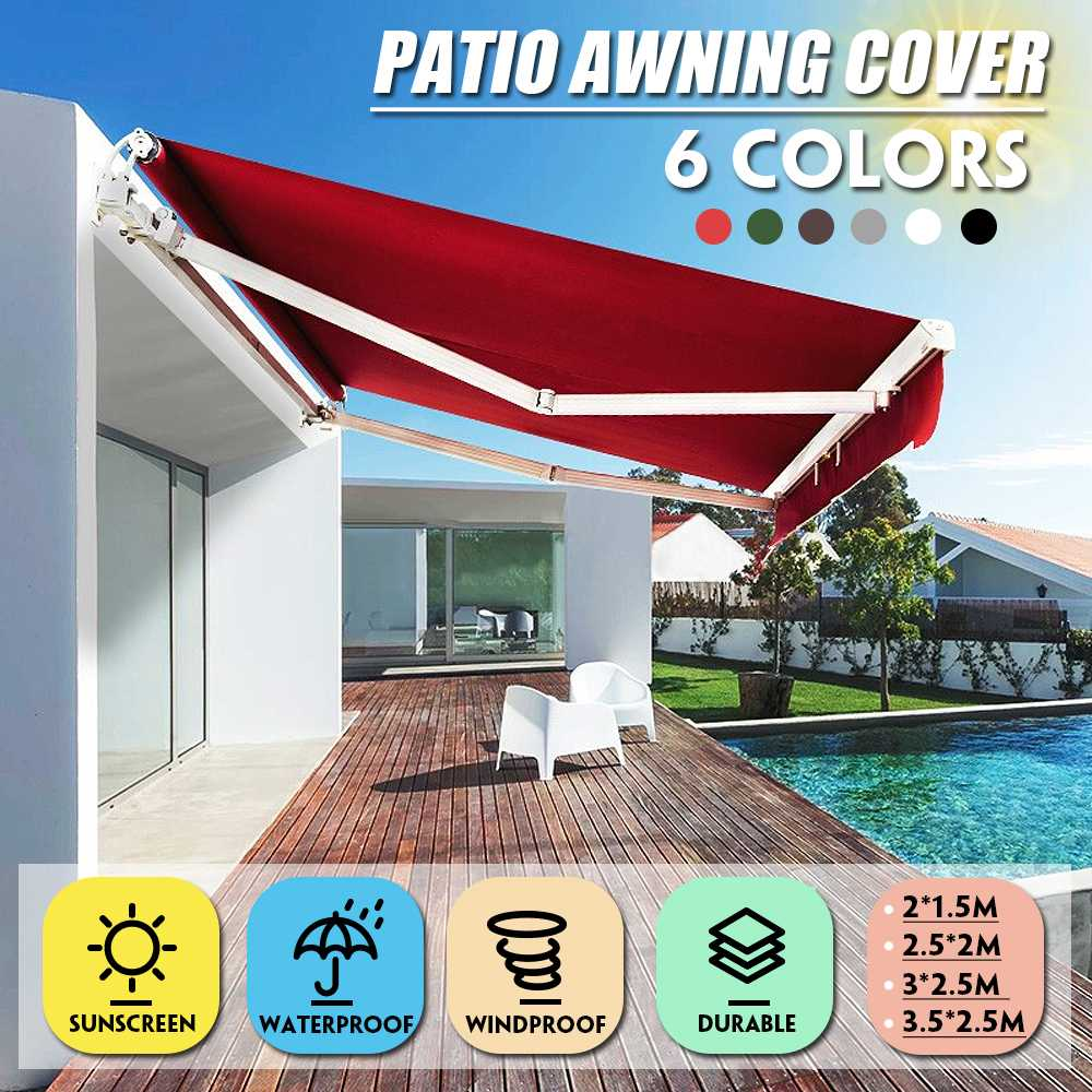 Garden Patio Cover Awning Canopy Screen Sun Shade Shelter UV Replacement Fabric