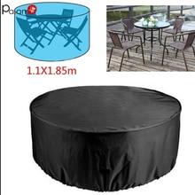 פוליאסטר חיצוני שולחן כיסוי מחנה פאטיו כיסוי ריהוט גן שולחן וכיסאות אטים לגשם Dustproof UV עמיד כסף ציפוי