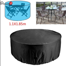 Polyester Outdoor Table Cover Camp Patio Furniture Covers Garden Table and Chairs Rainproof Dustproof UV Resistant Silver Lining