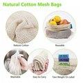 Многоразовые сетчатые сумки моющиеся экологически чистые сумки для хранения продуктов, фруктов, овощей, игрушек, сумки, сетчатый карман