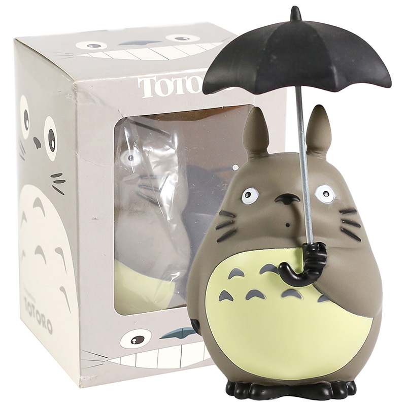 Miyazaki Hayao My Neighbor Totoro With Umbrella PVC Figure Collectible Model Toy