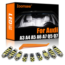 Zoomsee Best Canbus per Audi A3 8L 8V 8P A4 B5 B6 B7 B8 A5 A6 C5 C6 C7 A7 A8 D2 D3 Q5 Q7 veicolo LED cupola interna Kit luci