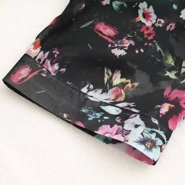 Women Vintage Floral Chiffon Shirts Small Fresh Simple Long Sunscreen Blouse Loose Shawl Kimono Cardigan Boho Tops 4