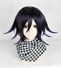 Tarzı yüksek kaliteli yeni Danganronpa V3 Koukichi Kokichi Ouma peruk isıya dayanıklı sentetik saç kostüm Cosplay peruk + peruk kap