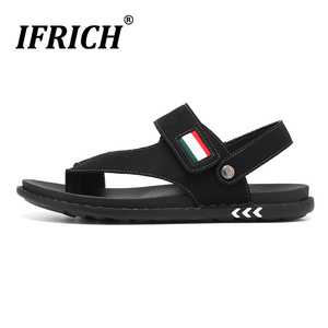 Image 5 - Sandálias masculinas de couro confortáveis, sandálias masculinas de designer para trilha e praia, verão, nova, 2019