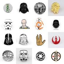 Movie Star Wars Darth Vader Brooch Star Wars Stormtrooper Lapel Pin Backpack Brooches сумка printio darth vader star wars