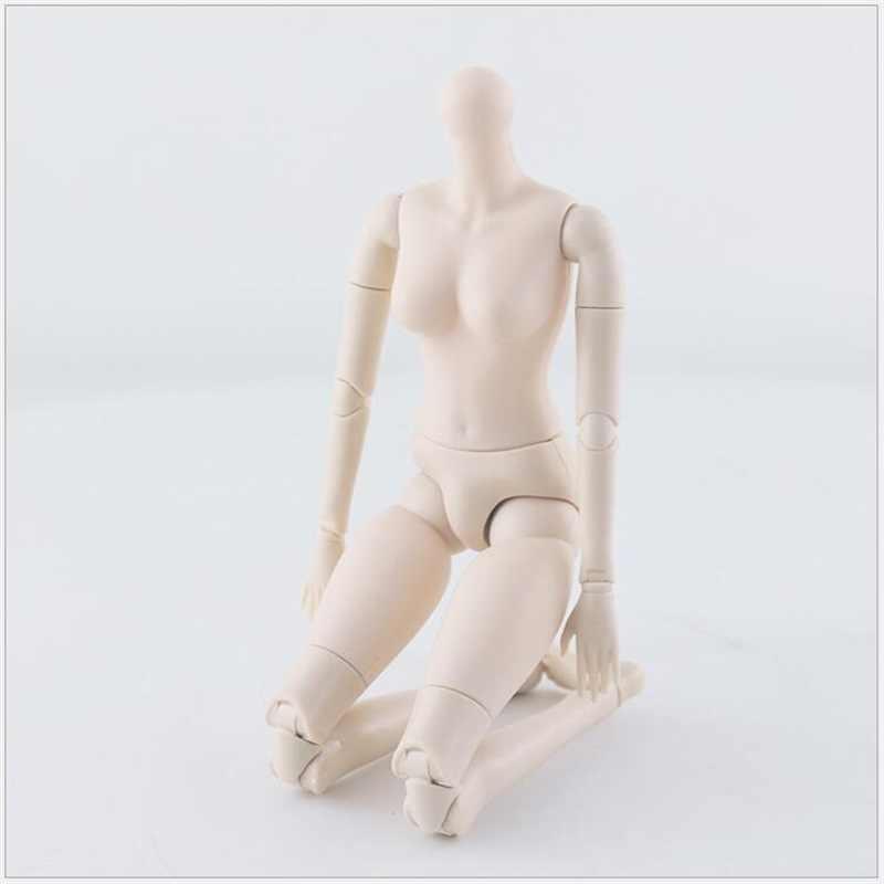 1Pcs 42 Cm Bjd Pop 24 Ball Jointed Doll Diy Naakte Lichaam Krullend Steil Haar Meisje Gift Met 3D Ogen Hoofd Poppen Speelgoed Voor Meisjes