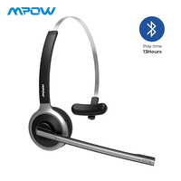 Mpow M5 Bluetooth 4.1 Headset Wireless Over Head Noise Canceling Headphones With Crystal Clear Microphone For Trucker/Driver