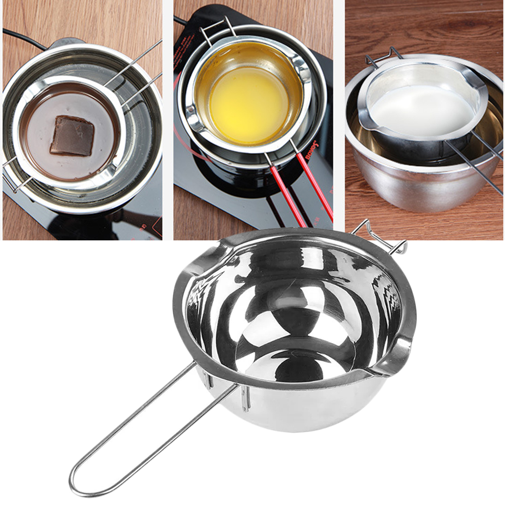Beautiful Long Handle Wax Melting Stainless Steel Pot Diy Scented Candle Soap Chocolate Butter Handmade Soap Tool With The Most Up-To-Date Equipment And Techniques