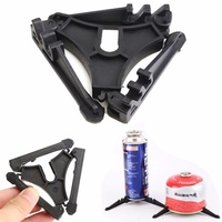Outdoor Folding PC Tripod Cooking Gas Tank Bracket Canister Rubber Stand Tripod For Camping Hiking