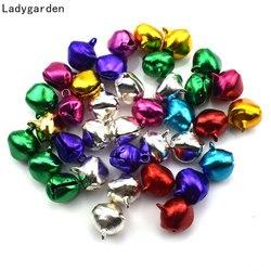 200PCS Christmas Small Colored Gold Aluminum/iron Bells DIY Handmade Bracelet Weaving Holiday Ornaments Accessories Decoration