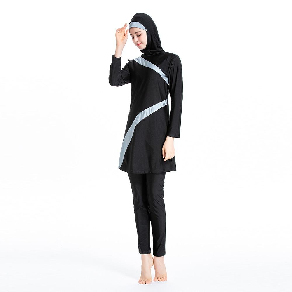 nadar praia surf wear esporte burkinis islâmico