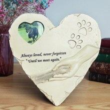 Креативный мемориальный камень для домашних животных с фоторамкой в форме сердца памятник для животных Сад задний двор украшение товары для собак и кошек
