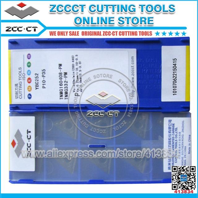 50pcs ZCC TNMG160408 PM YBC252 TNMG 160408 PM ZCCCT Carburo Cementato CNC Inserti TNMG160408 PM utensili da taglio taglierina