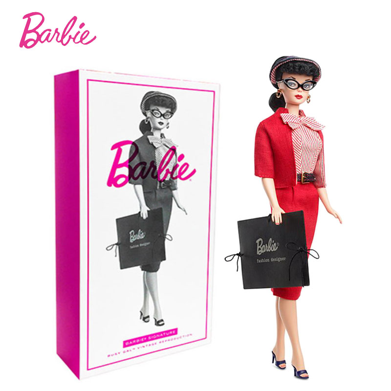 1995 Collector S Edition Gold Label Reissue Barbie Doll Busy Gal Fashion Designer Make Up Baby Doll Toy Fxf 26 Dolls Aliexpress