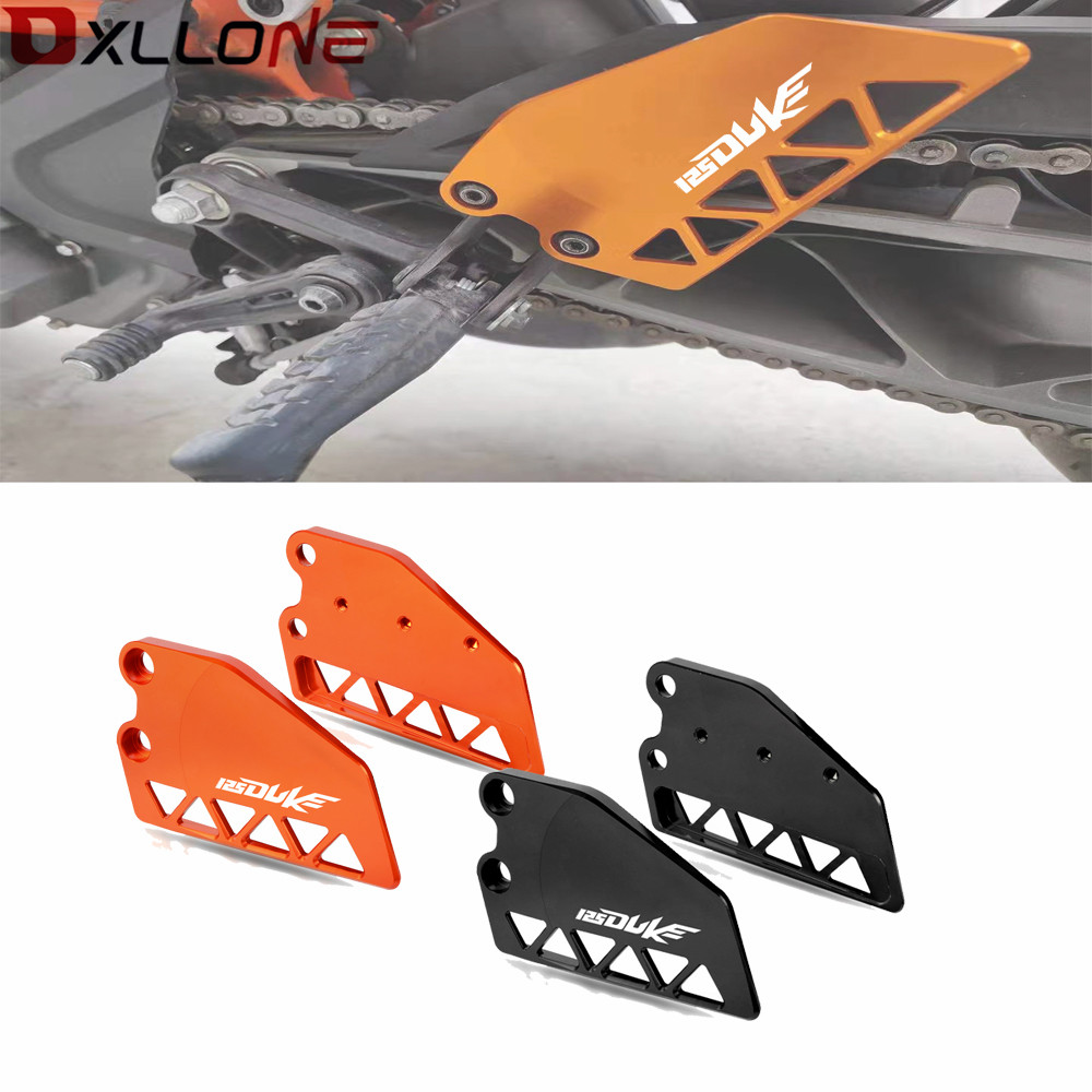 Motorcycle Front Heel Protective Cover Guard motorbike Accessorie Brake cylinder guard FOR KTM DUKE 125 2017 2018 2019 with logo image