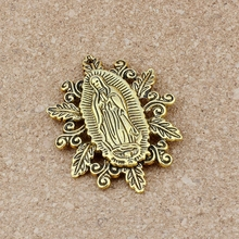 30pcs/lots Retro Our Lady of the Holy Scapular Medal Religion Charm Beads 50X37mm Antique gold pendant A-551