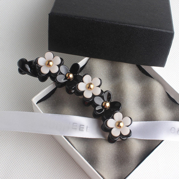 New camellia Flower Banana Clips for women twist Ponytail Vertical Hairpin Hair Claw Clip barrettes Headgear accessories