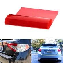 3 camadas 30x120cm filme auto-adesivo para luz traseira do carro transparente vermelho adesivo correção de cor iluminação gel filtro