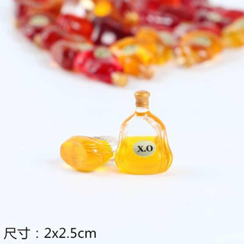 Mini Fake Simulasi Ox Botol Anggur Minuman Keras Alkohol Bir Bar Model Patung Figurine Kerajinan Gambar Ornamen Miniatur