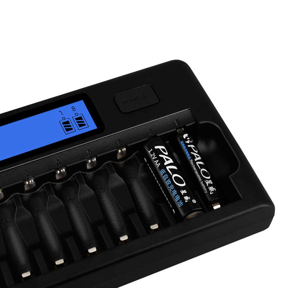 16 فتحات بالو سريع شاحن DP-K106 2-LCD المدمج في IC حماية ذكي السريع شاحن بطارية ل 16 قطعة 1.2V AA/ AAA متولى حسن/