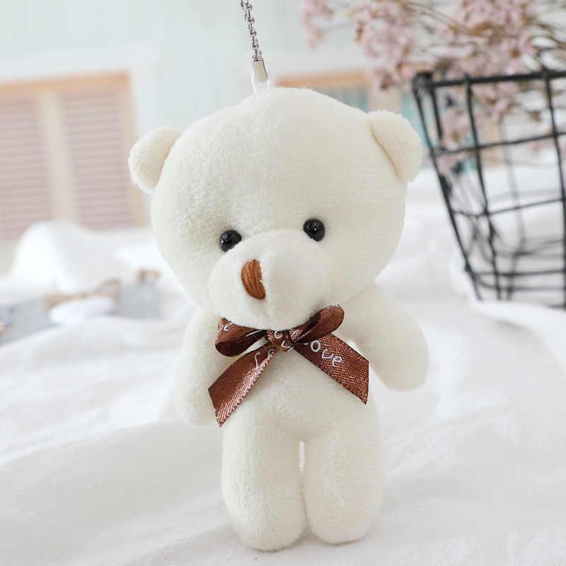 1 adet Mini oyuncak ayılar peluş bebek yapışık kolye PP pamuk yumuşak doldurulmuş çıplak ayılar oyuncak buket bebek tatil hediye çantası asılı