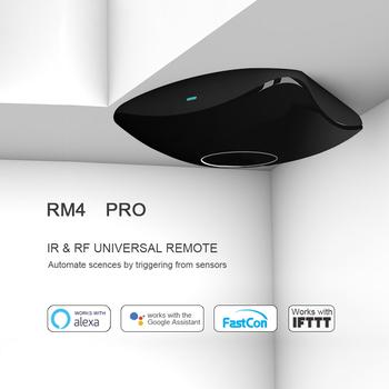 2020 Broadlink RM Pro RM4 RM4C Mini IR + RF + 4G uniwersalny inteligentny pilot dla Ios Android dla Google Home Alexa tanie i dobre opinie CN (pochodzenie) Broadlink Rm Pro Rm Mini3 IR Signal+RF Signal 315 433Mhz+2 4G wifi Remote control RF Switch+IR devices+2 4G WiFi