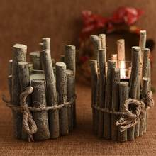 Wooden Concise Candlestick Creative Candelabra for Wedding Party Dinner Holiday Party Decoration Candle Holders(China)