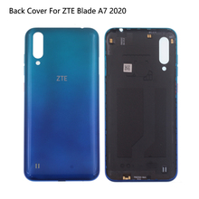 Original Glass Rear Cover For ZTE Blade A7 2020 Back Battery Cover A7 2020 Case Housing Door With Camera Lens Adhesive