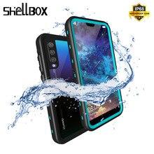 SHELLBOX עמיד למים מקרה עבור Huawei P20/P20 פרו/P20 לייט/Mate 20 פרו שחייה כיסוי מקרה טלפון coque מים הוכחת מקרי טלפון