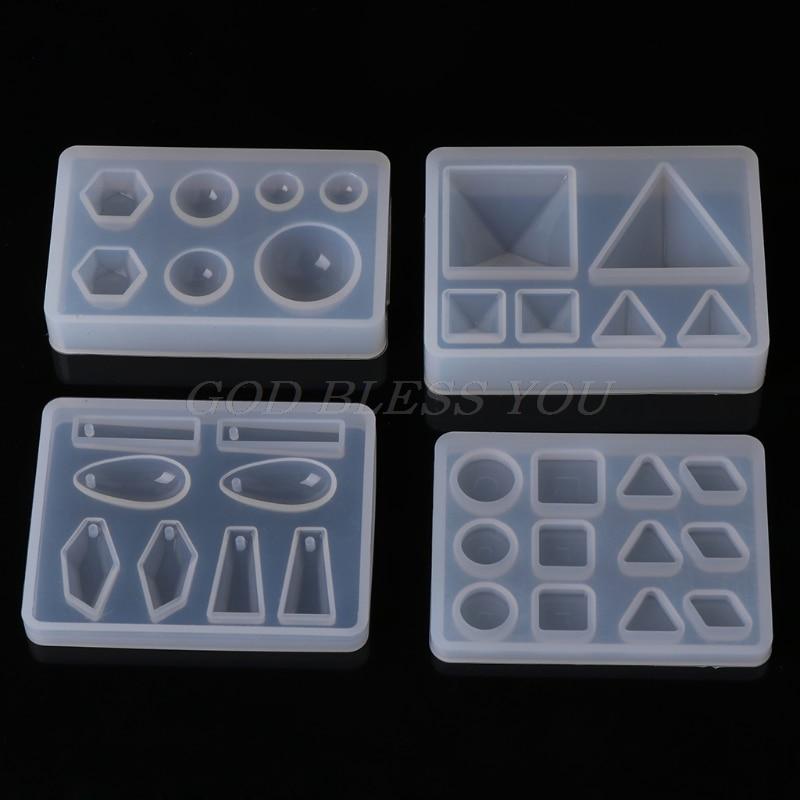 Silicone Mold DIY Geometric Triangle Mirror Craft Jewelry Making Decorative Cake